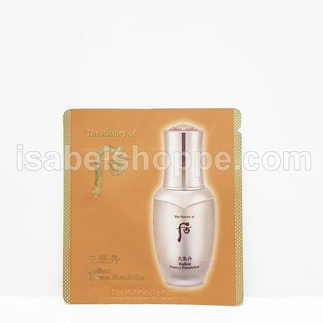 RADIANT ESSENCE FOUNDATION #21 1 ML X 10 SACHET