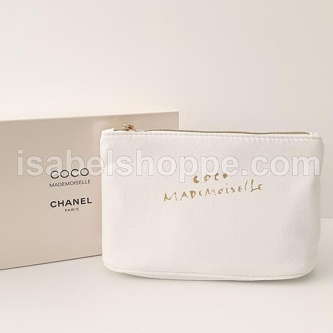 CHANEL MAKEUP POUCH COCO MADEMOISELLE VIP GIFT - WHITE